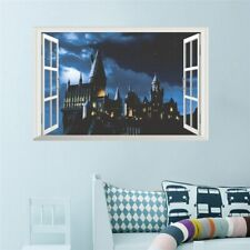 3D Harry Potter Large Castle Window Wall Decals Art Stickers Home Decor Kids NEW