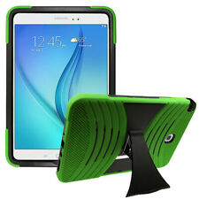 """For Samsung Galaxy Tab A 8.0"""" T350 Silicone + Hard Cover Case Green + Protector"""