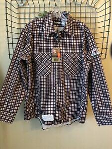Bulwark Plaid Uniform Regular Shirt - Excel Fr Flame Resistant Size L 9.5 ATPV