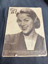 """Zeitschrift """"Hör zu!"""" Nummer 42, 16.-22. Oktober 1955"""