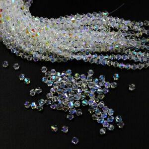 2/3/4/6mm Austria Glass Crystal Bicone Loose beads #5301 DIY Jewelry making