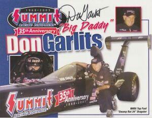 "2003 Don Garlits signed Summit Swamp Rat 34 ""1st Version"" Top Fuel NHRA postcard"