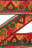 Vintage Indian Sari Border 1Yd Women Antique Sari Trim Ribbon Embroidered ST2514