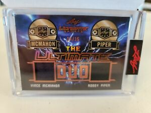 2021 Leaf Ultimate Sports Ultimate Duo Patch Vince McMahon/ Roddy Piper #24/25!