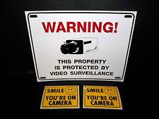 LOT WATERPROOF CCTV SECURITY SPY CAMERA WARNING SIGN+WINDOW STICKERS DECALS