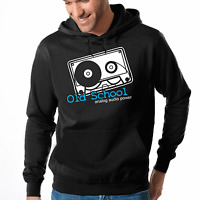 Old School Analog Audio Power DJ Retro Kassette Kapuzenpullover Hoodie Sweater