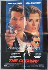 THE GETAWAY, original 1994 1-sheet, Alec BALDWIN & Kim BASINGER, Jim Thompson
