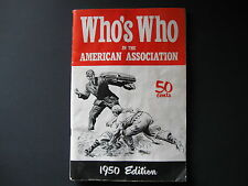 Rare Who's Who In The American Association 1950 Edition