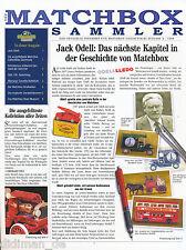 0007MAT Der Matchbox Sammler 1998 4/98 Jack Odell Oldsmobile Dampfmaschinen
