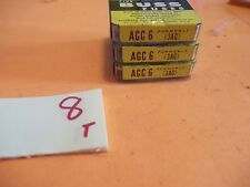 ELECTRICITY'S  SAFETY VALVE QTY14 FUSES NEW IN BOX BUSS AGC 6 AGC6 FUSE (BIN1)