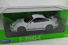 1/18 Welly Porsche 911 GT3 RS 997 Blanco #18015w