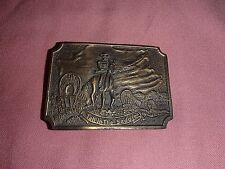 """Vintage Pioneer, Cowboy, """"Tall in the Saddle"""" Belt Buckle, Brass??, TR~BB~12"""