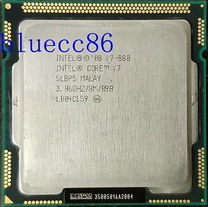 Intel Core i7-880 Quad Core 3.06GHz 8MB Socket LGA1156 95W SLBPS CPU Processor