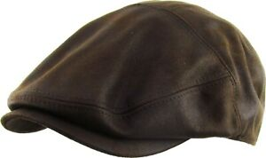 Men's PU Leather Newsboy Ivy Ascot Cabbie Golf Hat Gatsby Cap