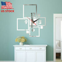Creative DIY 3D Clock Mirror Wall Stickers Art Decal Removable Home Decoration