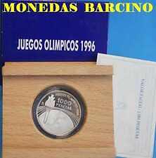 1995 1000 PESETAS ESPAÑA MONEDA DE LOS JUEGOS OLIMPICOS 1996  ANTORCHA PLATA
