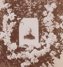 cabinet card photo floral memorial postmortem Rasmus Studio, Paxton, Ill.