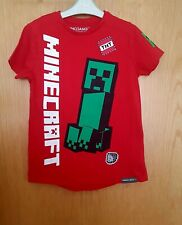 MINECRAFT Red Tshirt Top 8-9 years Christmas
