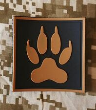 3D PVC K9 DOG TRACKER PAW TACTICAL US BADGE DESERT HOOK PATCH