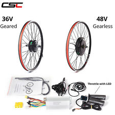 48V 36V Electric Bicycle Motor Kit  20 24 26 inch Motor Conversion Hub Kit