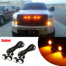 4x Waterproof LED Rock Light for JEEP ATV SUV Off-Road Truck Underbody  Amber