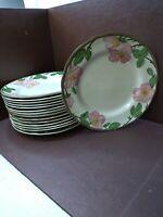 "Lot of 15 Vintage Franciscan Desert Rose Dinner Plates 11"" - Made In England"