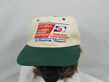 Vintage 90's Acura US Womens Tennis Baseball Cap Hat Tan Green One Sz Snapback