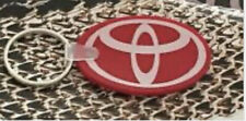 2 New Red Silicone keychain For Toyota