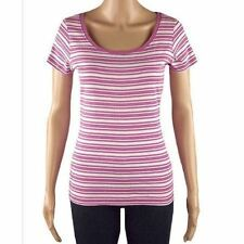 Marks and Spencer Short Sleeve Waist Length Striped Women's Tops & Shirts