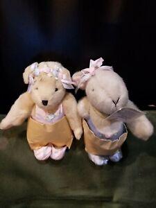 Vanderbear Muffy & Hoppy Paw De Deux still wrapped by paper