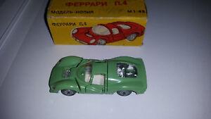 FABRICATION RUSSE: FERRARI P4 Verte 1/43  - TRES RARE avec sa boite d'origine