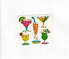 Vintage Hambly Glitter Sticker Sheet - Cocktail Umbrella Drink Martini Margarita