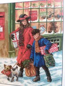 DMC Classics~Christmas Shopping~Victorian ~Cross Stitch Pattern~PATTERN ONLY 🌲