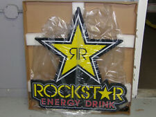 "Rockstar Energy Drink Large 30"" DOUBLE R  LED Bar Store Sign Advertisement"