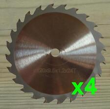 Cuatro Hojas De Sierra Circular De 120 Mm x 9.5 mm para Worx WorxSaw XL WX249, WX247