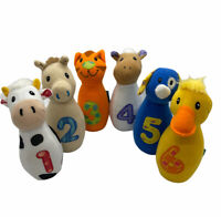 EARLYEARS Baby Farm Friends Plush Bowling Rattle Set for Baby & Toddler No Ball