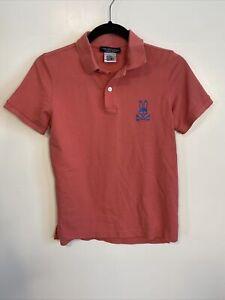 Psycho Bunny Boy's Alto Polo Shirt Festival Large L 14/16 Pink