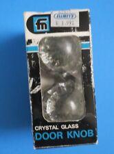 VINTAGE ~ CRYSTAL GLASS DOOR KNOB ~ FRANKLIN MFG ~ No 800 ~ COMPLETE ~NEW IN BOX