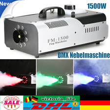 1500W DMX Nebelmaschine RGB 3 IN 1 9x3W LED Fernbedienung Rauchmaschine 2L
