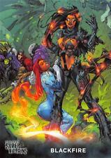 BLACKFIRE / DC Comics Super-Villains (Cryptozoic 2015) BASE Trading Card #10