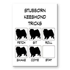 Keeshond Stubborn Tricks Fridge Magnet Funny