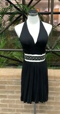 Enthro Black Halter Dress With Belt Size Small