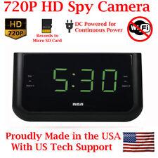 SecureGuard 720p HD USB Alarm Clock Spy Nanny Hidden Camera