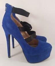 Charlotte Russe Cobalt Blue Vegan Platform Stiletto Heel Pumps for Women Size 8