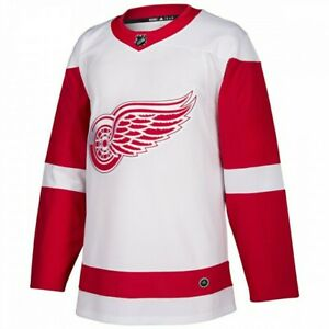 New Detroit Red Wings Adidas Authentic NHL Hockey Jersey White/Red Size 50
