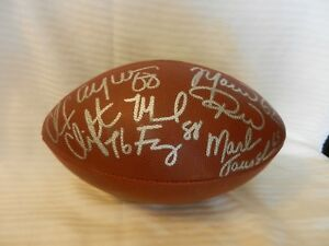 Offensive Line Autographed Wilson Football Green Bay Packers 5 Signatures!