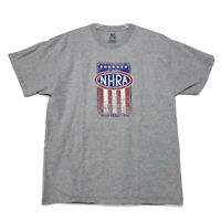NHRA 2014 Member Tee T Shirt Mens XL Heather Gray FOL Lofteez T Distressed Logo