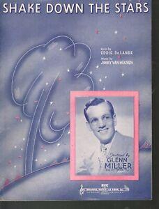 Shake Down The Stars 1940 Glenn Miller Sheet Music