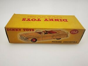 DINKY TOYS MECCANO PACKARD CONVERTIBLE N°132 made in ENGLAND boîte vide