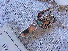 Horse Western Horseshoe Clip ID Badge Name Tag Key Card Holder Necklace Lanyard
